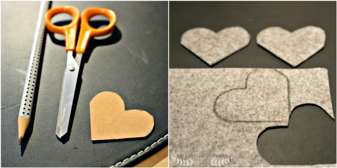 DIY felted bookmark collage