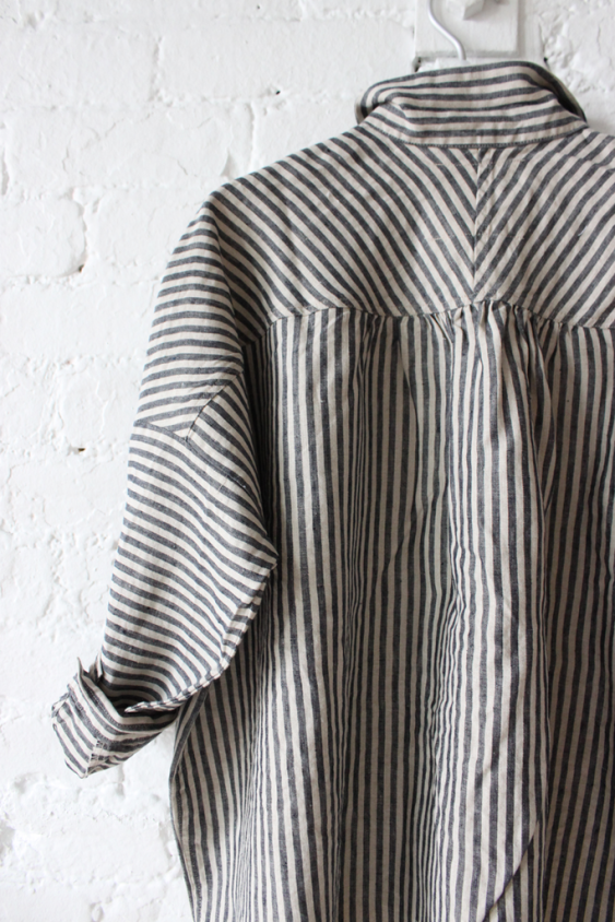 Linen Shirt in Stripes by Ichi Antquites
