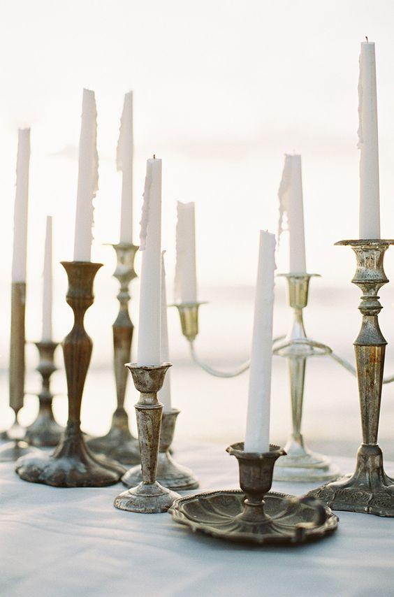 vintage candleholders