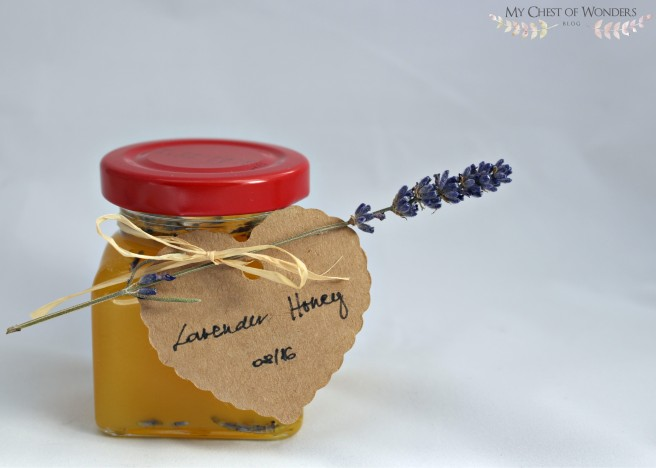 herb infused honey labeled