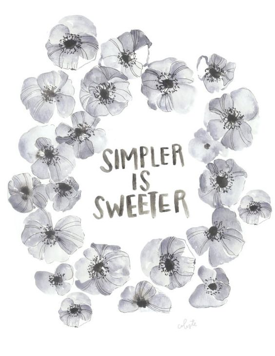 simpler is sweeter floral watercolor