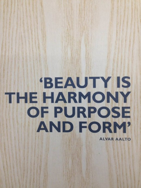 beauty is the harmony of purpose and form quote by alvar aalto