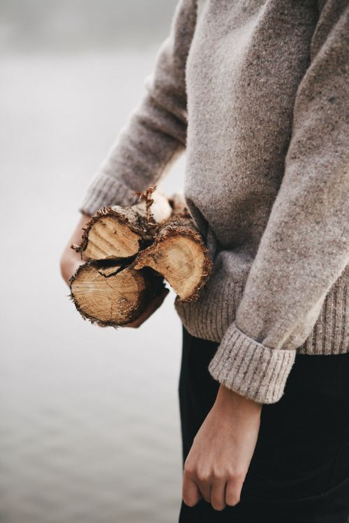 sweater and firewood