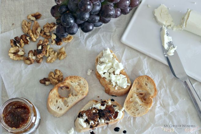 goat cheese crostinis