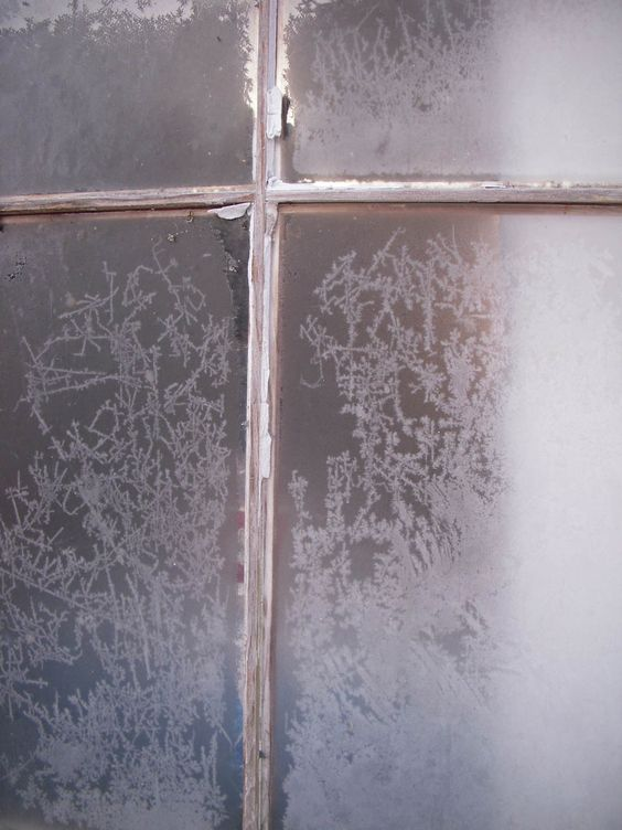 frosty old window