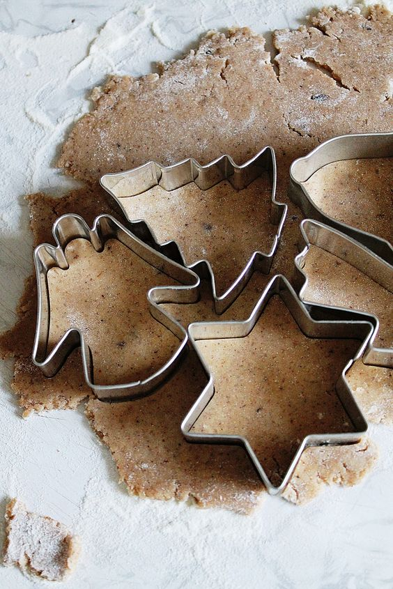 dough and cookie cutters