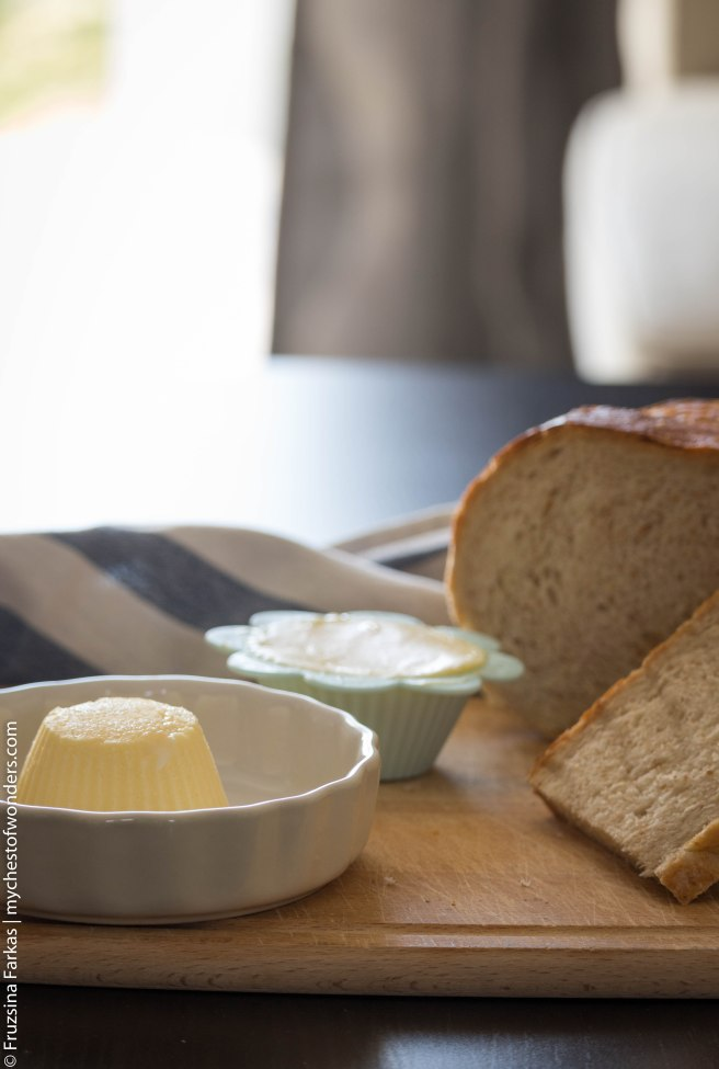 homemade butter with bread