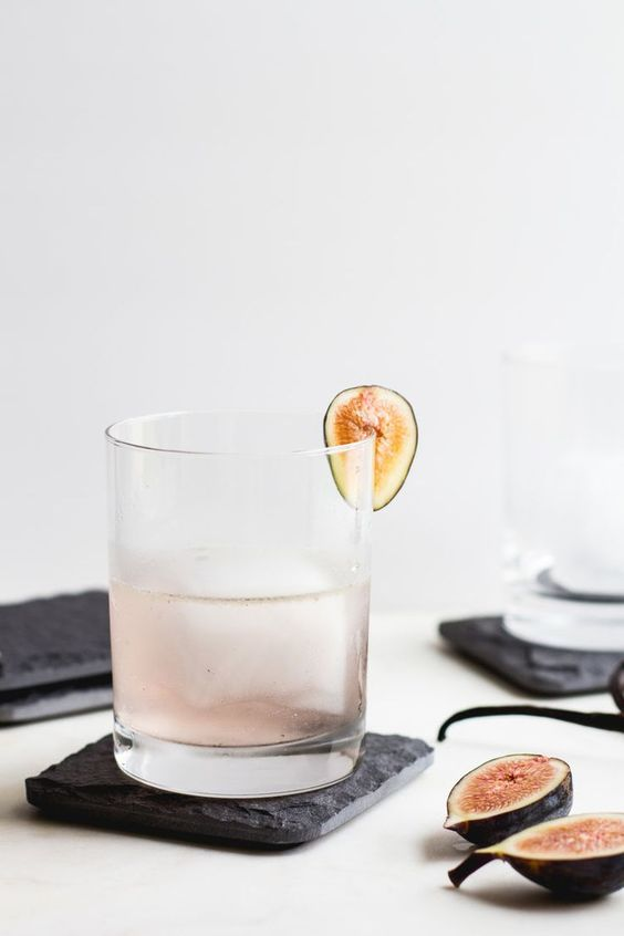 fig vanilla gin cocktail