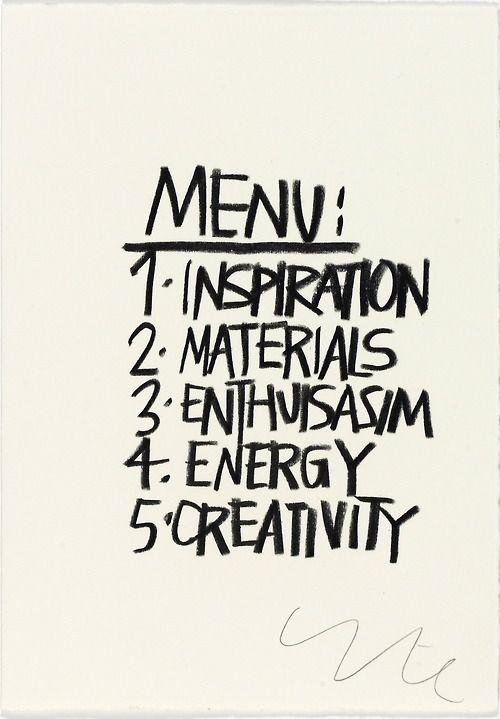 menu art print