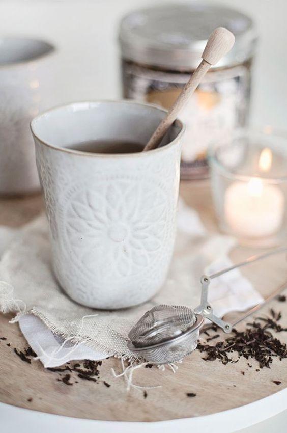 oriental mug with tea