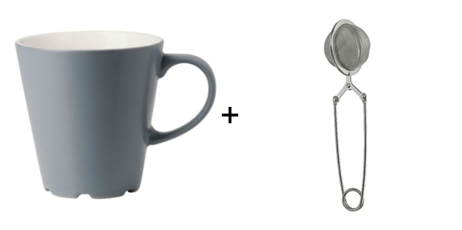 ikea mug and tea infuser