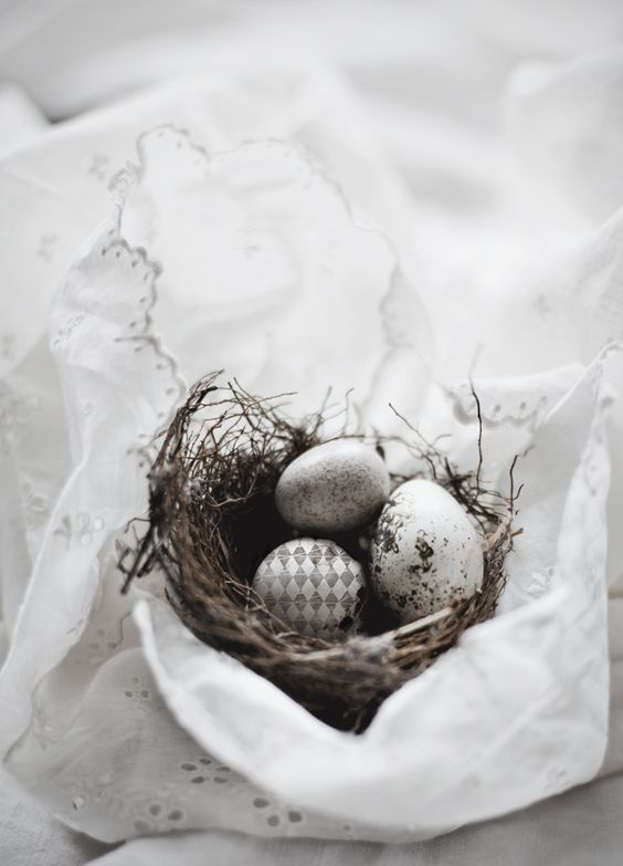 nest eggs and embroidery