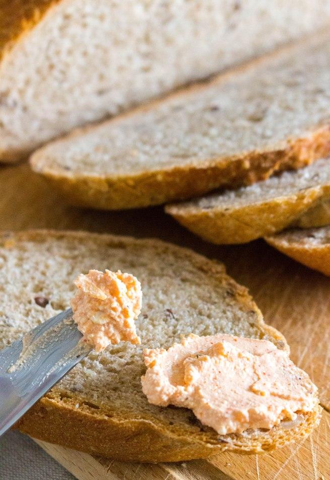hungarian liptauer on bread
