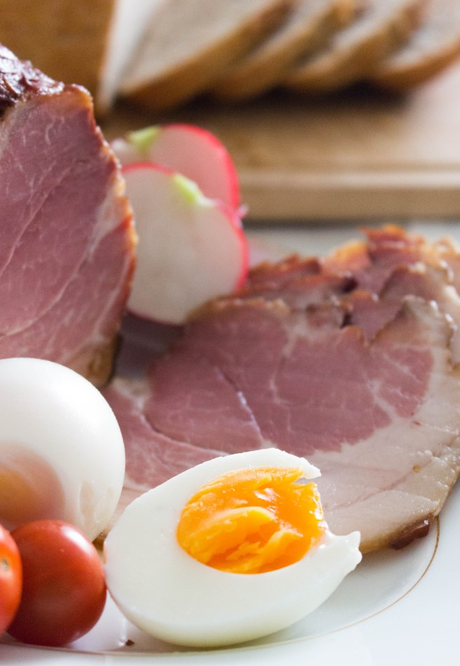 easter ham with egg