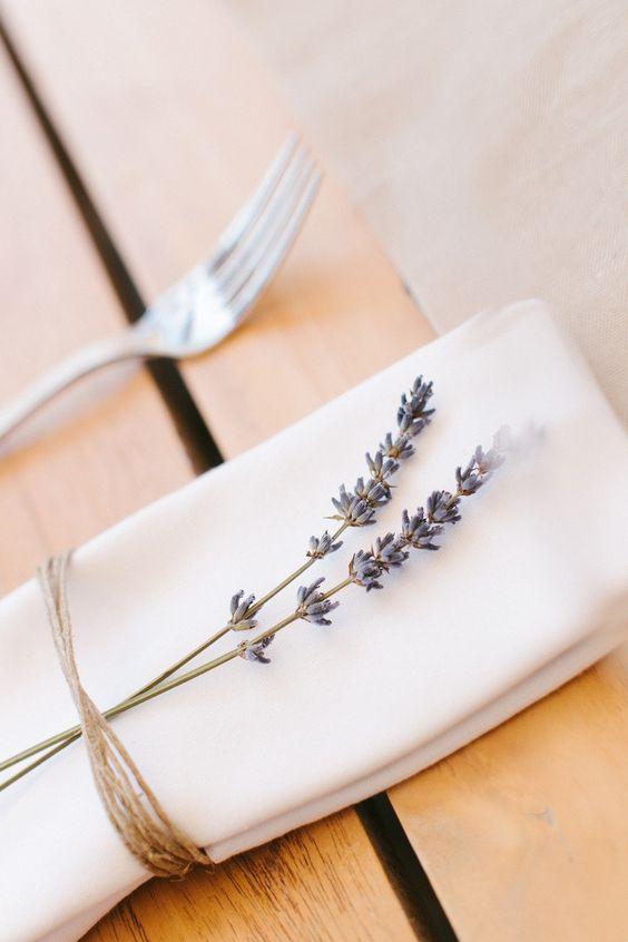 napkin with lavander