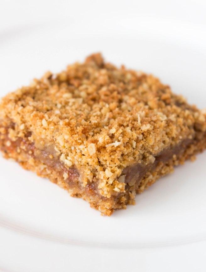Healthier Shortbread Fig Jam Crumble Bars