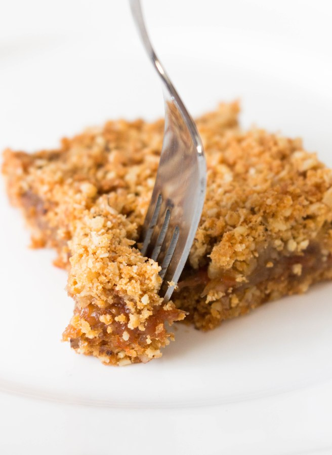 Healthier Shortbread Fig Jam Crumble Bars