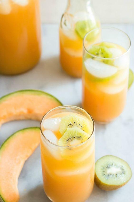 cantaloupe kiwi agua fresca