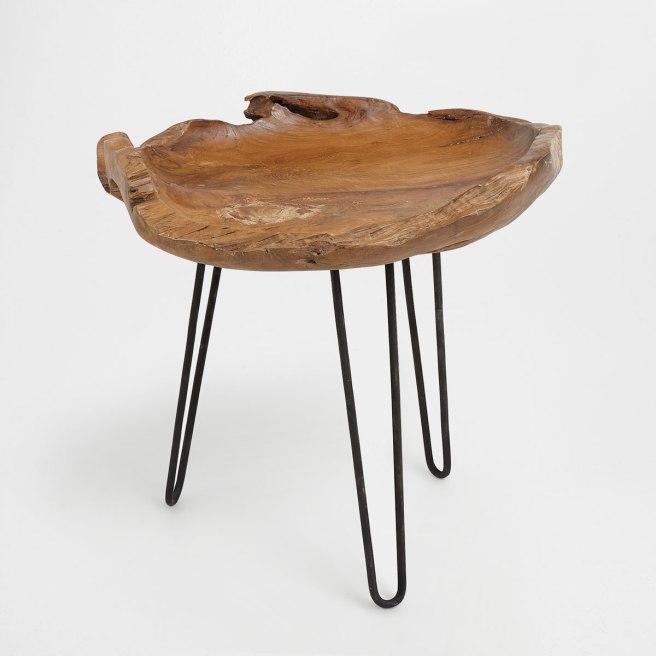 zara home wooden bowl bedside table