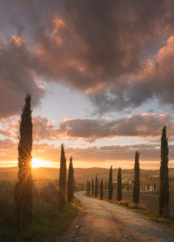 tuscany sunset