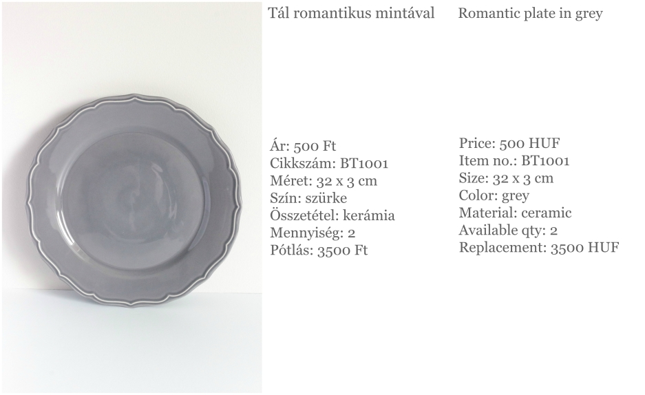 plate in grey