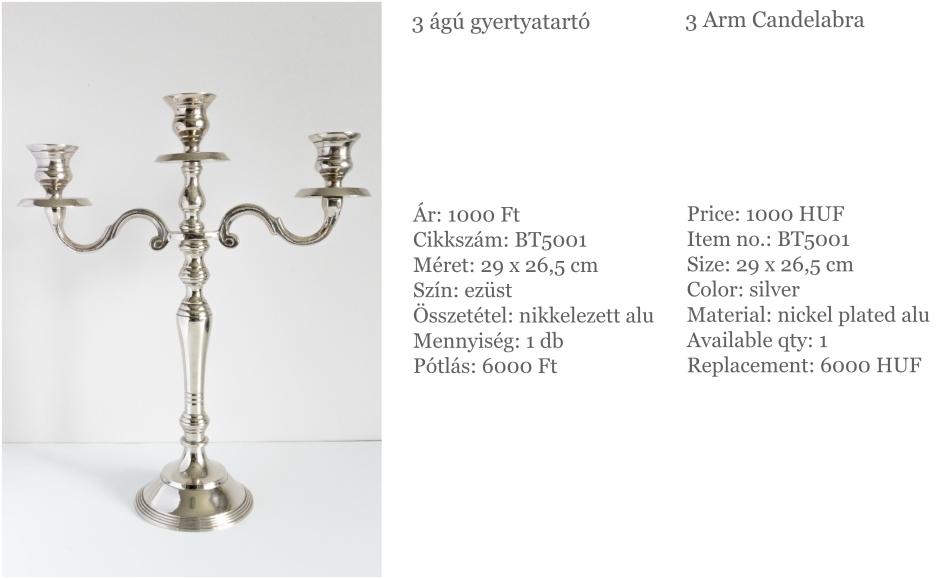 3 arm candelabra