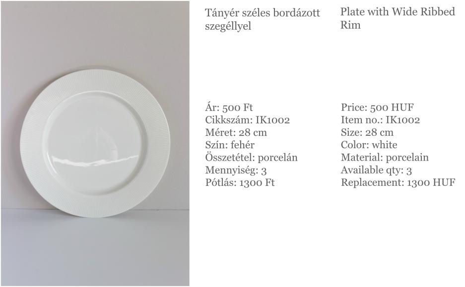 ribbed rim plate