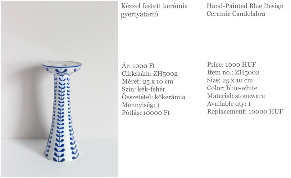 ceramic candelabra