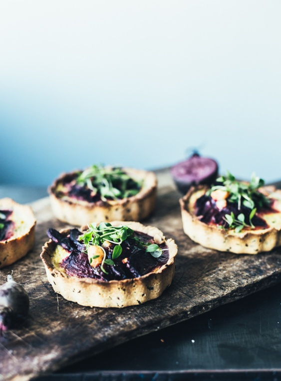 beet goat cheese pies