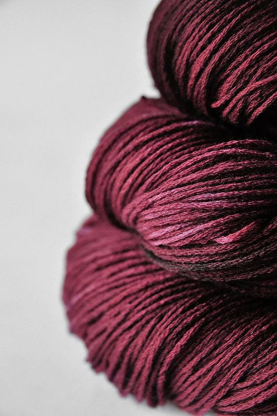 burgundy wool yarn