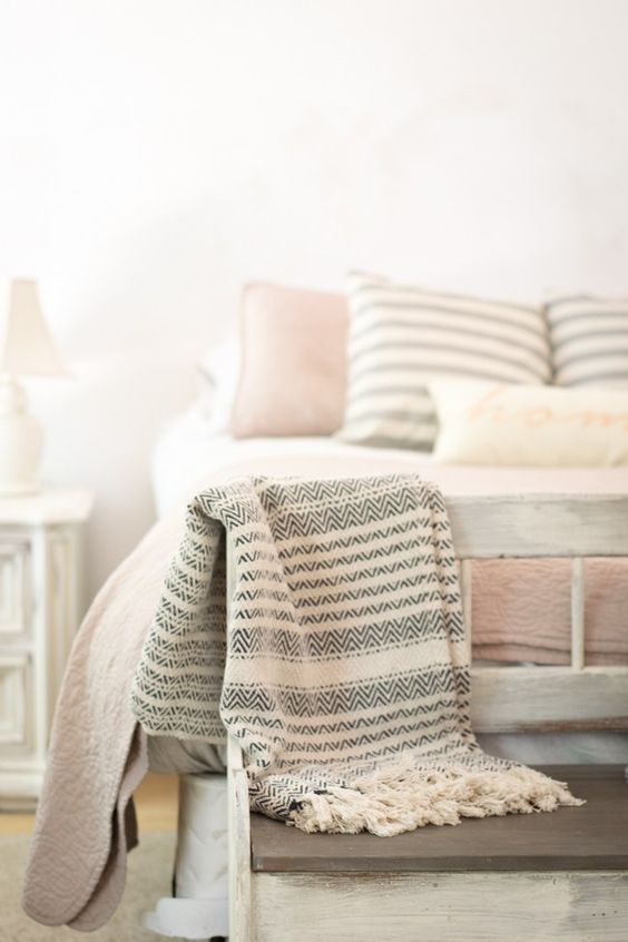 patterned throw
