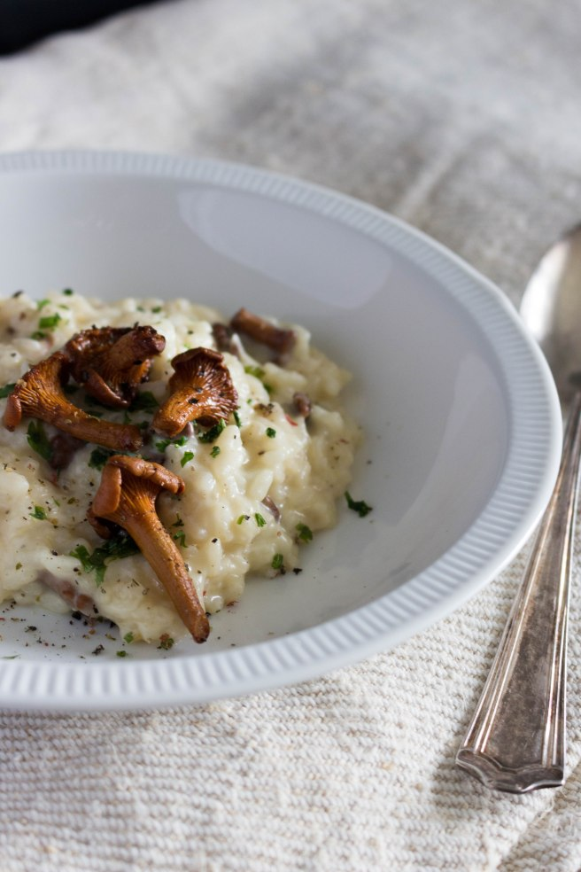 chanterelles-risotto