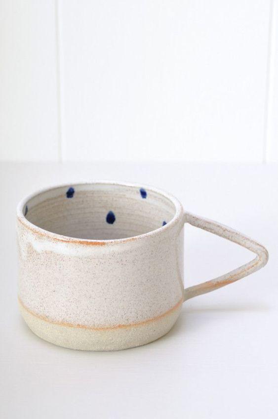 koromiko cobalt dot mug