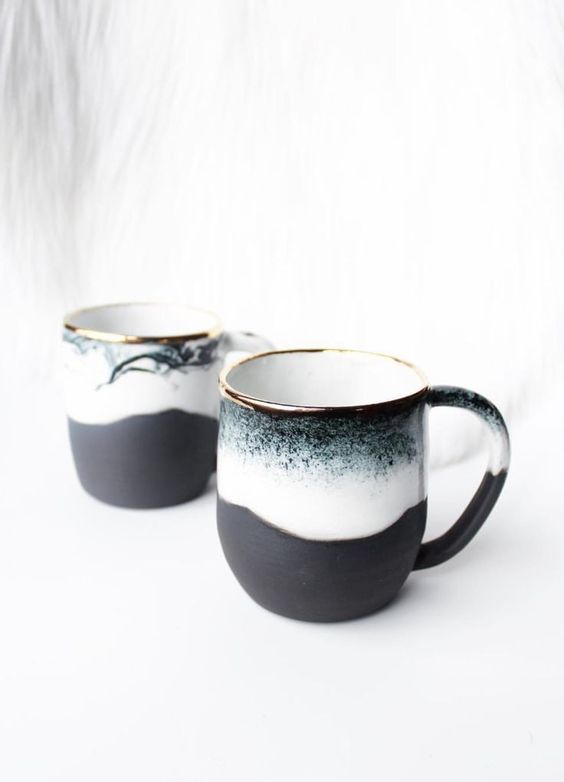 clear blur design mug
