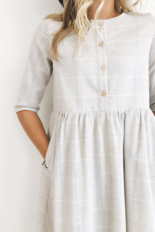 clarice button dress
