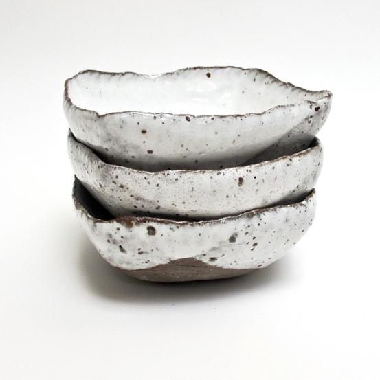 rustic ceramic square bowls